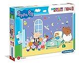 Clementoni- Supercolor Puzzle-Peppa Pig-104 Piezas Maxi, Multicolor (23735)