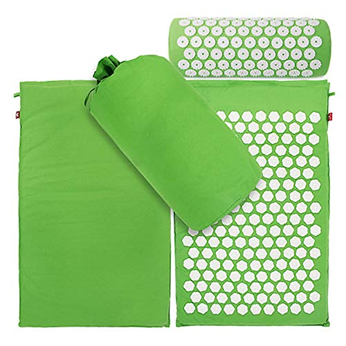 Deurmat Yoga Lotus Spike met digitale print en draagtas Groen