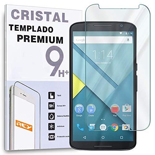 REY Protector de Pantalla para Motorola Google Nexus 6 Cristal Vidrio Templado...