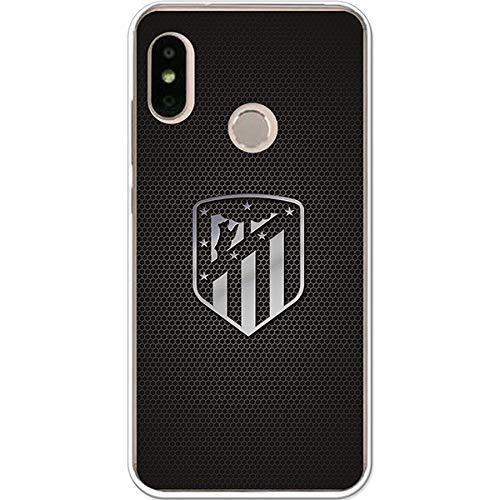 Atlético de Madrid Funda para Xiaomi Mi A2 Lite Oficial Escudo Plata - Funda de Silicona Flexible y Resistente para Proteger tu móvil