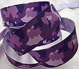 Grosgrain Ribbon - Purple Camouflage - 7/8'' Wide - 10 Yards Total
