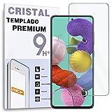 REY Protector de Pantalla para Samsung Galaxy A51 - A51 5G, Cristal Vidrio Templado Premium