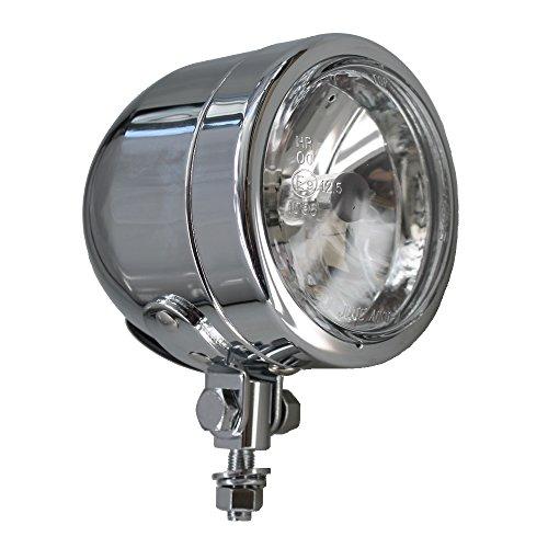 Motorfiets koplamp licht 90mm Cafe Racer Custom chroom bijvoorbeeld voor Harley HD Chopper, Bobber