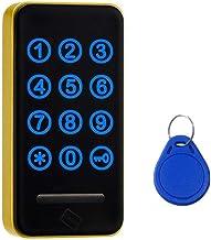 Touch toetsenbord wachtwoord RFID-kaart sleutel metalen digitale elektronische kast Locker Lock 118pw-Rood