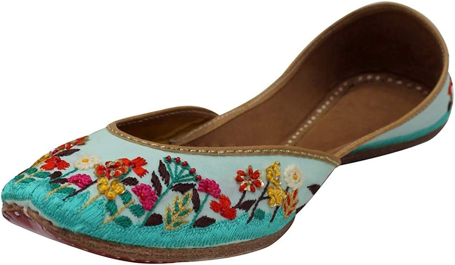 Step n Style Flat Beaded Mojari Flat Jooti Flat shoes Indian Sandals Khussa Jutti