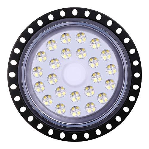 Yuanline 100W UFO Iluminación LED Alta, Lámpara Industrial Ultra Delgada,Lámpara Industrial de Blanco Frío 6000-6500K, 50000Lm,(100W,1 Pack)