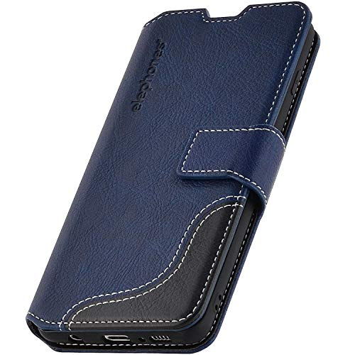 elephones® Handyhülle für Samsung Galaxy S10 Hülle - Kompatibel mit Galaxy S10 Schutzhülle Handy-Tasche Flip Case Cover Blau