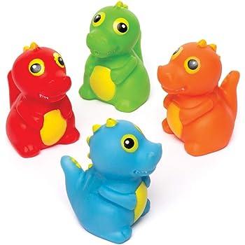 iwobi 5 pezzi Dinosauro Giocattoli da Bagno in Gomma