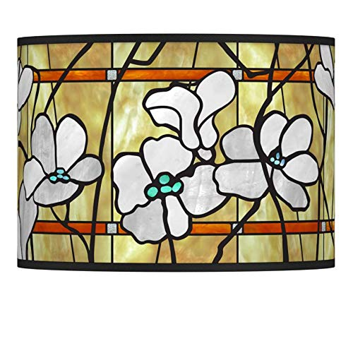 Magnolia Mosaic Giclee Lamp Shade 13.5x13.5x10 (Spider) - Giclee Glow