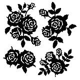 Fustelle per stencil | Rose | 4 pezzi