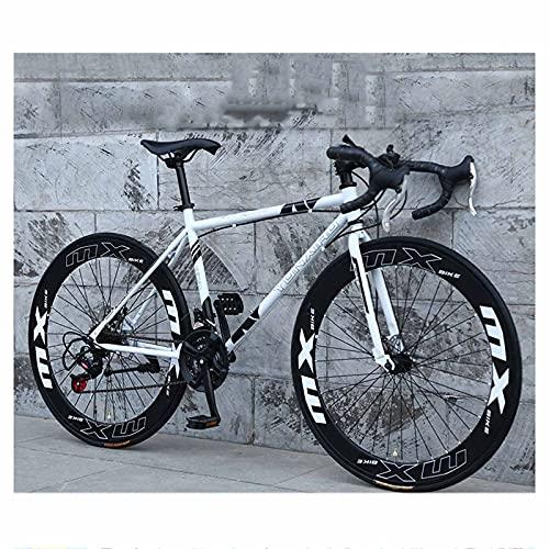 Bicicleta De Carretera con Ruedas De 26 `` para Hombres Y Mujeres, Bicicleta De Ciudad para Adultos De 24 Velocidades, Acero De Alto Carbono, Llanta De 6 Cm De Ancho, Carretera Bick,C