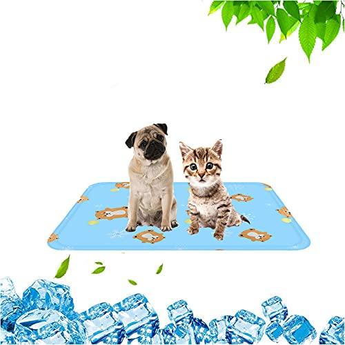 MJYK Alfombrilla de Refrigeración Cojín para Perros Plegable y No Tóxico, Alfombra Refrescante, para Dormir de Doble Cara Impermeable, a Prueba de Orina y Transpirable para Mascotas