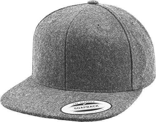 Flexfit Mütze Melton Wool Snapback, h.grey, One Size, 6689M