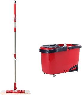 Luckya モップとバケツクリーニングセットでブラシ調節可能着脱式Hangable家庭レッドヘッド* 2