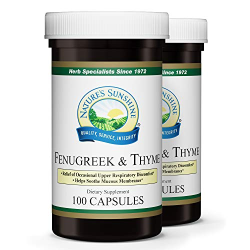 Nature's Sunshine Fenugreek and Thyme 100 caps, 2 Pack