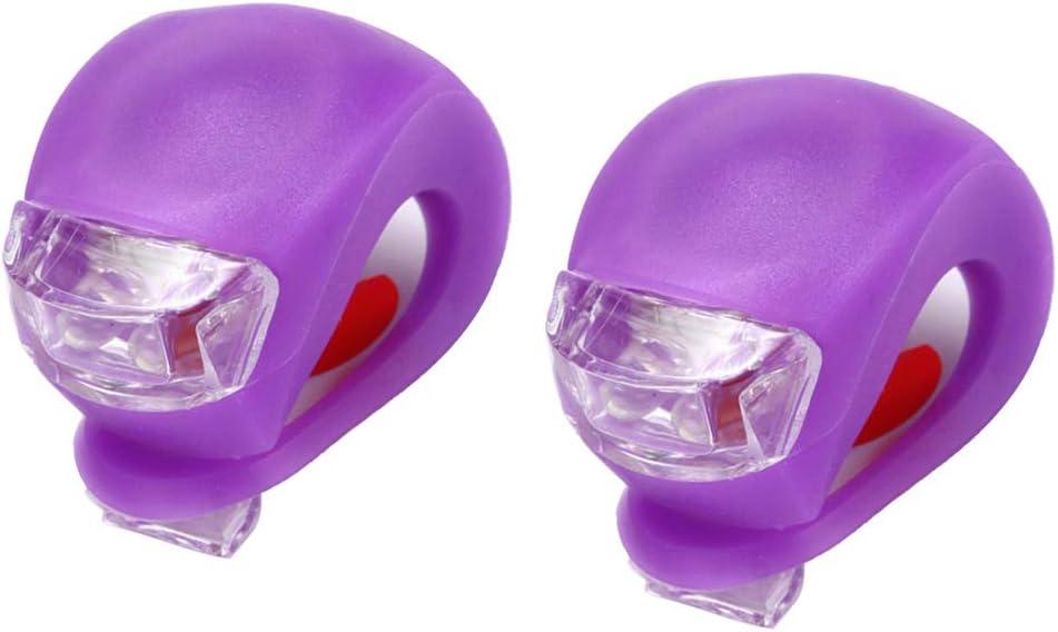 Outlet Max 87% OFF SALE harayaa 2pcs LED Bike Headlight Bi Silicone Lamp Strip Clip-on