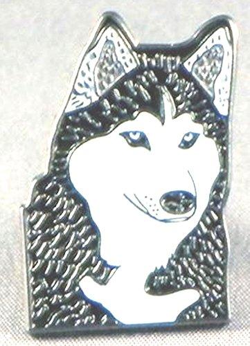 Metall Emaille Brosche Husky Hund (Malamute)