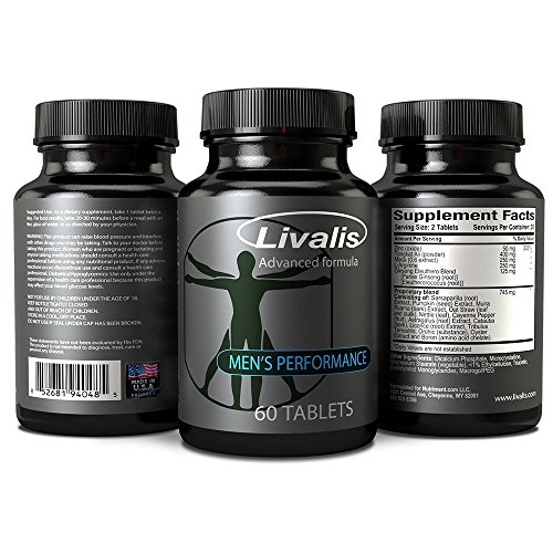 Livalis Ultra- Male Enhancement and Enlargement Pills- Testosterone Booster and Performance Enhancer for Men- Add Over 3 Inches Fast- 60 Tablets