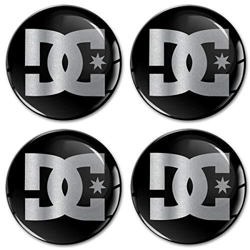 x2 DC pegatina adhesiva para coche coche Negro 10cm