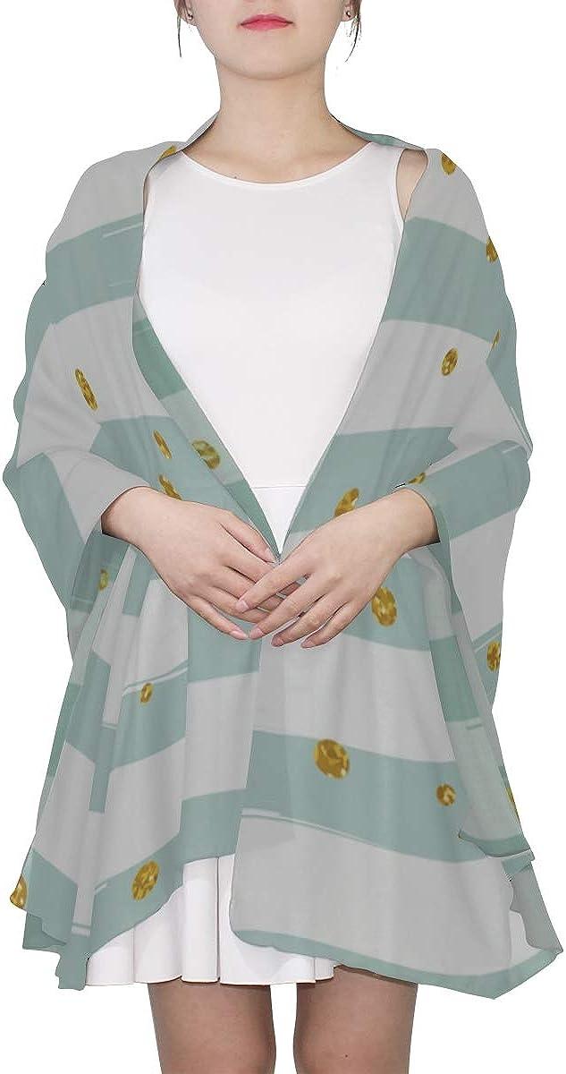 Fancy Scarfs For Women Glitter Confetti With Stripe Fashion Scarf Lightweight Scarf Summer Lightweight Print Scarves Body Shawl Wrap Big Scarfs For Women