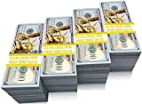 BOOSTEDBLUE 1 Million Dollars Prop Money Bill, 100pcs Real one Million Dollar Feel, Color & Size, Favorit Choice for Schools, Fun and Props. Industry Approved & Free Gift Box