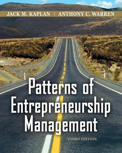 Patterns of Entrepreneurship Management