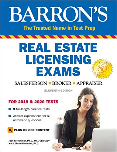 Compare Textbook Prices for Real Estate Licensing Exams with Online Digital Flashcards Barron's Test Prep Eleventh Edition ISBN 9781438011868 by Friedman Ph.D., Jack P.,Lindeman Ph.D., J. Bruce