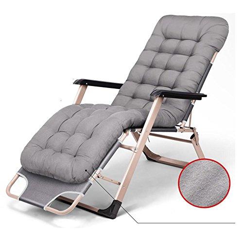 Xiaolin Lit Pliant déjeuner lit Bureau inclinable Maison Simple lit Camping lit Pliant Chaise (Couleur : Gray)