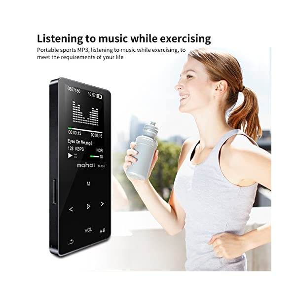 MP3/MP4 Music Player, 8GB Portable Audio Player with Photo Viewer, Voice Recorder, FM Radio, A-B Playback, E-Book, Metal Body, Build-in Speaker with Headphone(Expandable Up to 128GB) 3