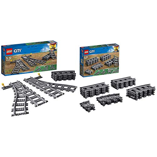 LEGO City Trains Scambi, 60238 & City Binari, 60205