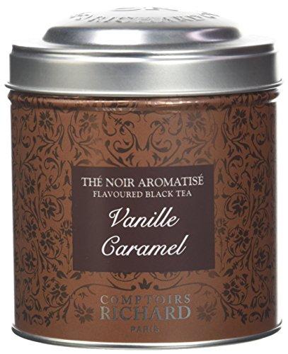 Comptoirs Richard Thé Noir Vanille Caramel Boîte Métal Vrac 100 g