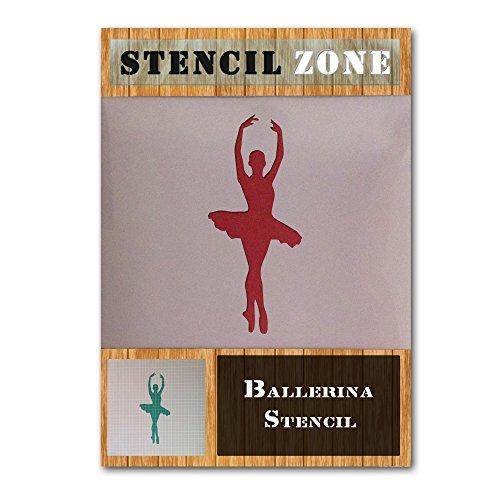 Ballerina-Ballett-Pirouette Tanzen Tänzer mylar Malerei Kunsthandwerk Schablone Zwei (A4 Größe Stencil - Small)