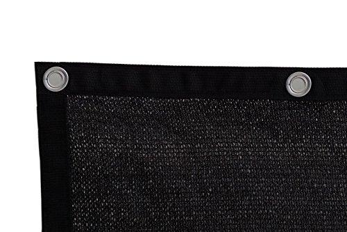 Wellco Shatex 90% Solaire Panneau Abat-Jour, Coutures Edge avec œillets, Noir 2,4 x 3,7 m by