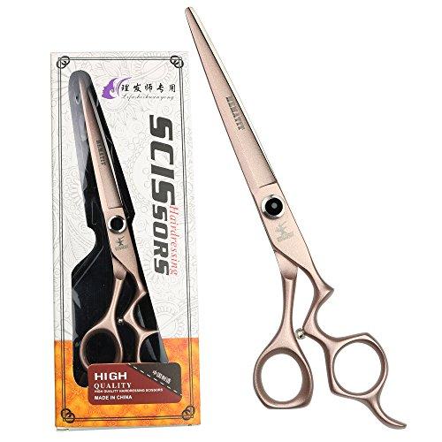HEMATITE 7 pulgadas de oro rosa negro diamante tijeras de peluquería peluquería tijeras de corte