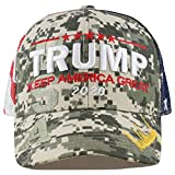 The Hat Depot Exclusive Donald Trump 2020'Keep America Great/Make America Great Again 3D Signature Cap (Mesh - Digi Camo)