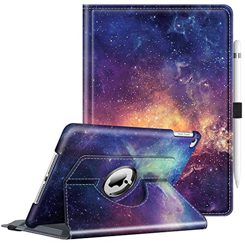 Fintie Case for iPad 9.7 2018 2017 / iPad Air 2 / iPad Air - 360 Degree Rotating Stand Protective Cover with Auto Sleep Wake for iPad 9.7 inch (6th Gen, 5th Gen) / iPad Air 2 / iPad Air, Galaxy