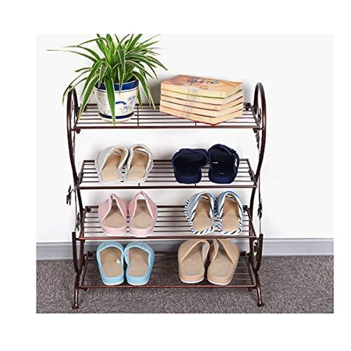 Estante de Zapatos Hierro 4 niveles zapato zapato multifuncional zapato zapato zapato estante almacenamiento organizador de almacenamiento para entrada, pasillo y armario Organizador de Zapatos