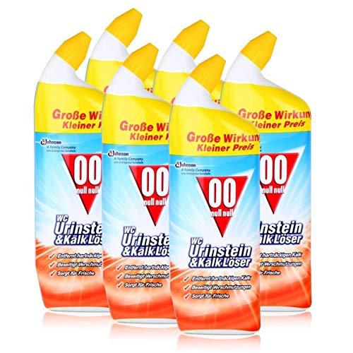 00 null null WC Urinstein & Kalk Löser 750 ml - Für Bad & WC (6er Pack)