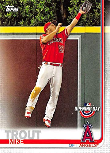 2019 Topps Opening Day #24 Mike Trout Los Angeles Angels MLB Baseball Trading Card