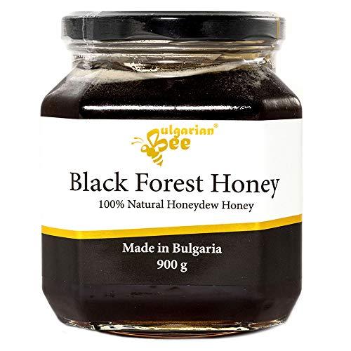 900 g Roher Schwarz Honigtau Honig aus Eichenblättern, Unbeheizter, nicht pasteurisiert