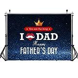 WOLADA 7x5FT Happy Father's Day Photography Backdrop Crown Backdrop Bokeh Backdrop Glitter Particle Backdrop Father's Day Family Party Backdrop Father's Day Photo Backdrop 12085