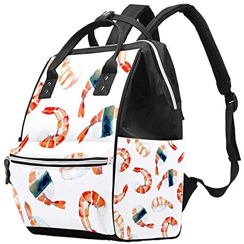 YUELAI Sac à langer Sac à dos Sac à dos pour ordinateur portable Sac à dos de voyage pour femmes, crevettes crevettes