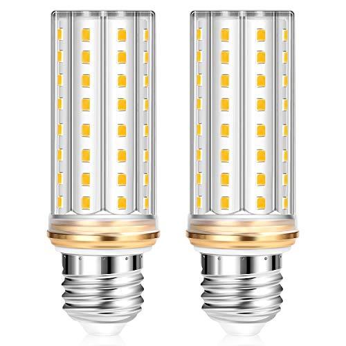 Lampadine LED E27 Luce Calda - 150W Equivalente Alogena Piu Potenti 20W Lampada LED E27 3000K Mais Lampadina LED E27 2000LM Luce 360°Edison Screw Lampadine a Candela Non Dimmerabile Pacco da 2
