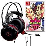 Audio-Technica ATH-AG1x Gaming Headset Bundle with Nintendo Pokemon Shield