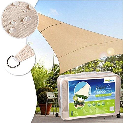 GreenBlue GB501 Luifel Parasol Zonnescherm Windscherm Zon Driehoek Crème 4m x 4m x 4m