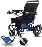 SOAR Sillas De Ruedas Electricas Silla de Ruedas eléctrica discapacitada, con Joystick de 360 °, Silla de Viaje de tránsito portátil, Plegado de Aluminio Ligero, para discapacitados y Ancianos