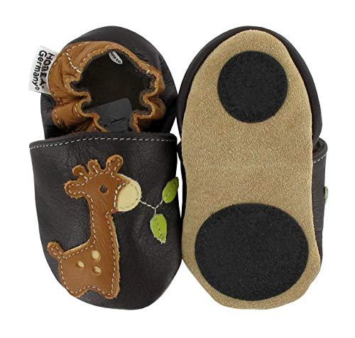 HOBEA-Germany Baby Lauflernschuhe Tiermotiv mit Anti-Rutsch-Sohle, Kinder Hausschuhe mit Tiermotiv: Giraffe, Größe: 20/21 (12-18 Mon)