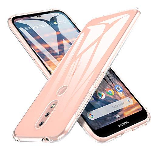 iBetter Slim Thin Protettiva per Nokia 4.2 Cover,Morbido TPU,Antiurto Morbida Silicone Trasparente Custodia, per Nokia 4.2 Smartphone.Trasparente
