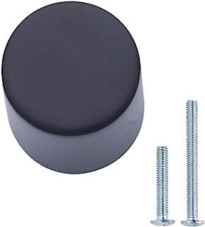AmazonBasics - Pomo de armario con forma de silbato 19 cm de diámetro Negro liso Paquete de 25
