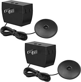 DEWENWILS 3-Level Touch Dimmer Switch, Touch Pad Control with 3 Levels of Dimming, Dimmable LED/CFL Lights, Incandescent and Halogen Bulbs, 8 ft Extension Cord, ETL Listed, Black, 2 Pack